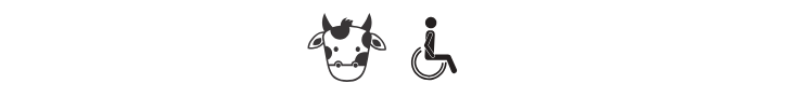 cows milk, handicapped accessible